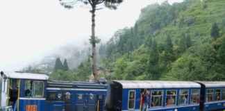 darjeeling toy train at batasia loop