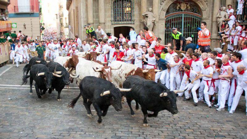 Running off the Bulls, Spain