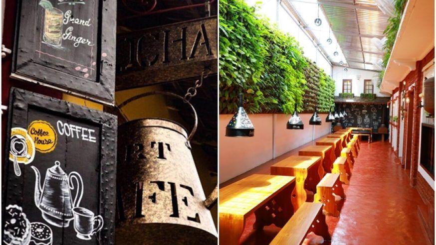 The Mocha Art Café in Cochin is 300-years-old!