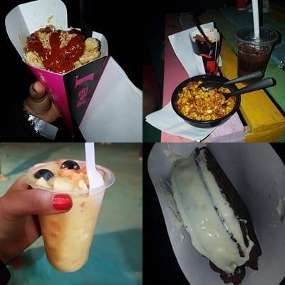 Various food items at Sunburn