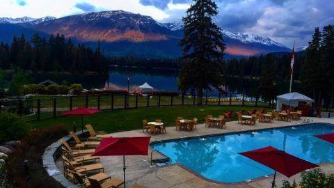 Megan & Harry's honeymoon: Fairmont Jasper Park Lodge