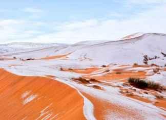 Sahara desert snow
